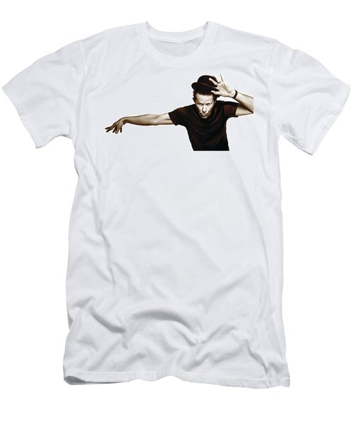Tom Waits Artwork  4 Men's T-Shirt (Athletic Fit)