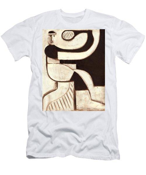Tommervik Art Deco Tennis Player Art Print Men's T-Shirt (Athletic Fit)