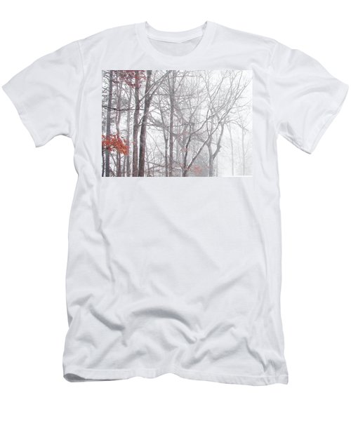 Touch Of Fall In Winter Fog Men's T-Shirt (Athletic Fit)