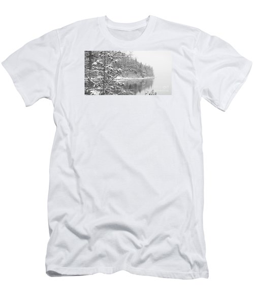 Touch Of Winter Men's T-Shirt (Slim Fit) by Diane Bohna