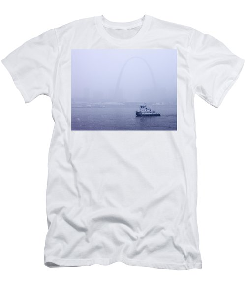 Towboat Working In The Snow St Louis Men's T-Shirt (Athletic Fit)
