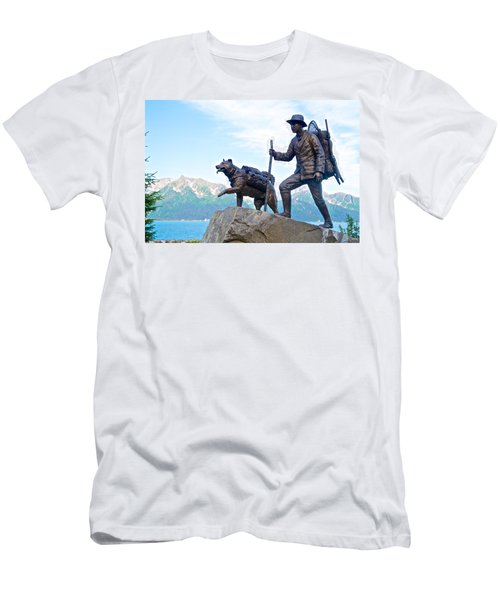 Trail Blazers Sculpture For 2012 Iditarod Beginning At Mile 0 In Seward-ak Men's T-Shirt (Athletic Fit)