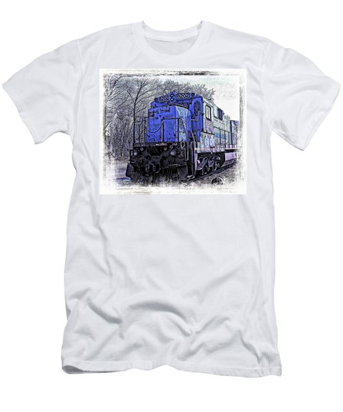 Train Series Men's T-Shirt (Slim Fit) by Marcia Lee Jones