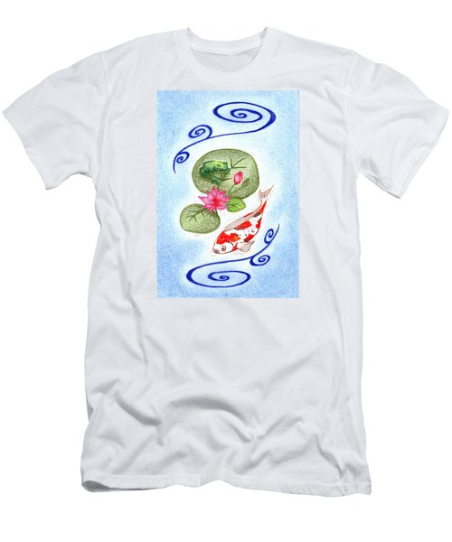 Men's T-Shirt (Slim Fit) featuring the drawing Tranquility by Keiko Katsuta