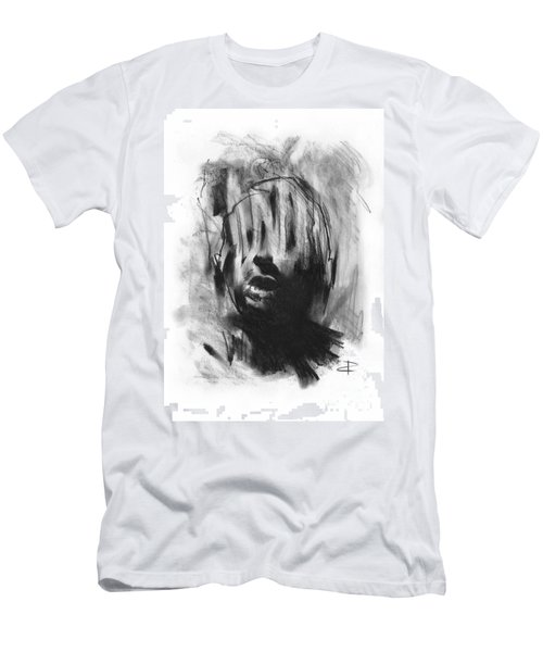 Men's T-Shirt (Slim Fit) featuring the drawing Gaza Trauma by Paul Davenport