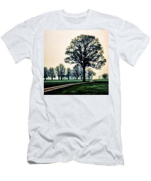 Tree At Dawn On Golf Course Men's T-Shirt (Athletic Fit)