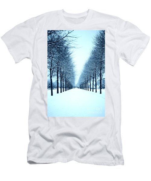 Tree Avenue In Snow Men's T-Shirt (Athletic Fit)