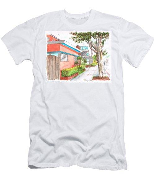 Tree In Laguna Riviera Hotel In Laguna Beach - California Men's T-Shirt (Slim Fit) by Carlos G Groppa