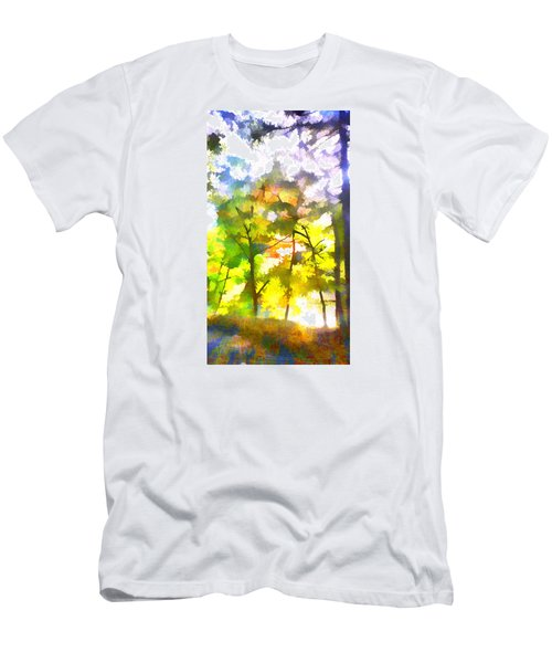 Men's T-Shirt (Slim Fit) featuring the digital art Tree Leaves by Frank Bright