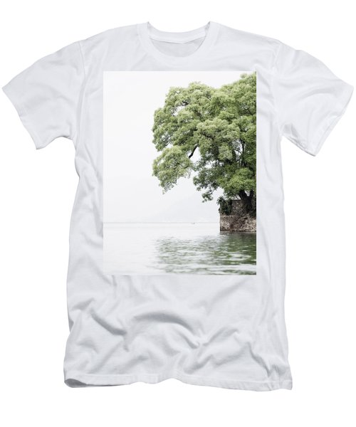 Tree Next To A Lake Men's T-Shirt (Athletic Fit)