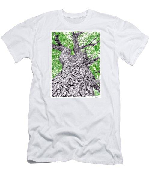 Tree Pen Drawing 4 Men's T-Shirt (Athletic Fit)