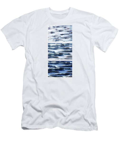 Men's T-Shirt (Slim Fit) featuring the photograph Trio In Blue by Wendy Wilton