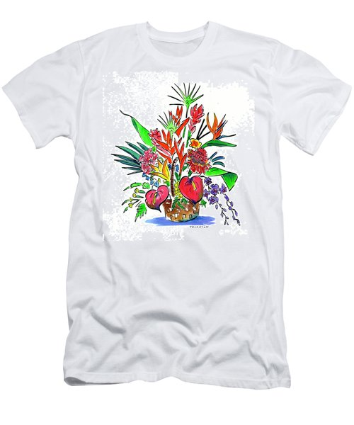Tropical Basket Men's T-Shirt (Athletic Fit)