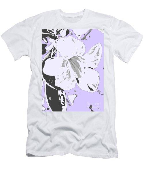 Tropical Floral Violet Black Men's T-Shirt (Athletic Fit)