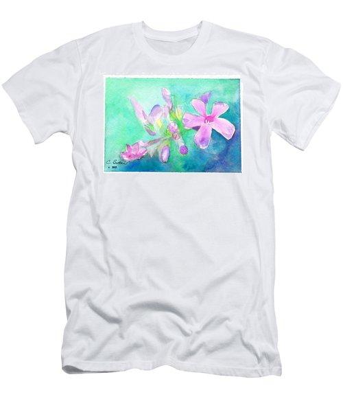 Tropical Flowers Men's T-Shirt (Slim Fit) by C Sitton