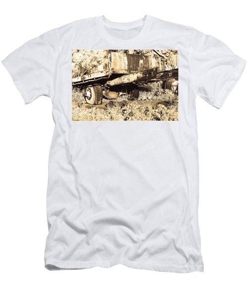 Truck Wreckage II Men's T-Shirt (Slim Fit) by Cassandra Buckley