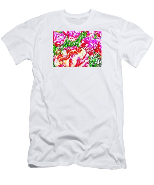 Men's T-Shirt (Slim Fit) featuring the photograph Tulip Infusion by Zafer Gurel