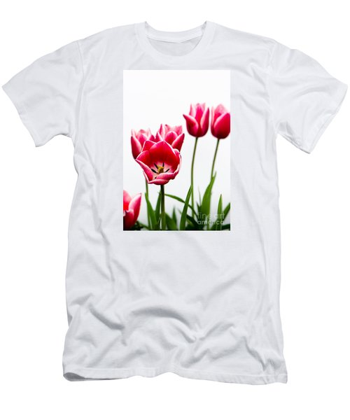 Tulips Say Hello Men's T-Shirt (Athletic Fit)