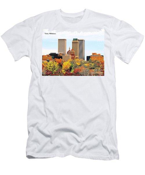 Tulsa Oklahoma In Autumn Men's T-Shirt (Athletic Fit)