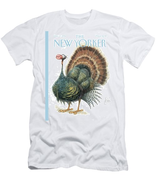 Turkey Wearing A False Pig Nose Men's T-Shirt (Athletic Fit)