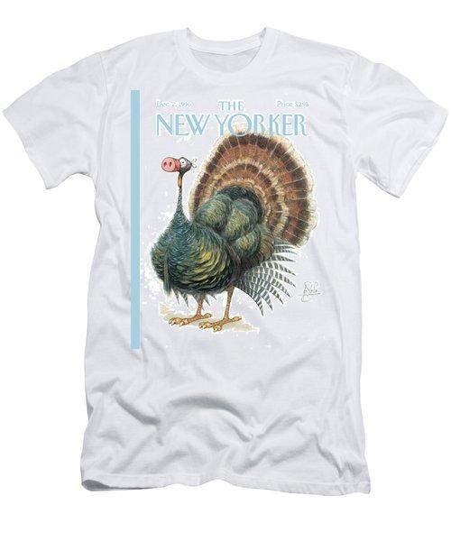Turkey Wearing A False Pig Nose Men's T-Shirt (Athletic Fit)