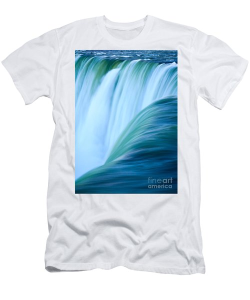 Turquoise Blue Waterfall Men's T-Shirt (Athletic Fit)