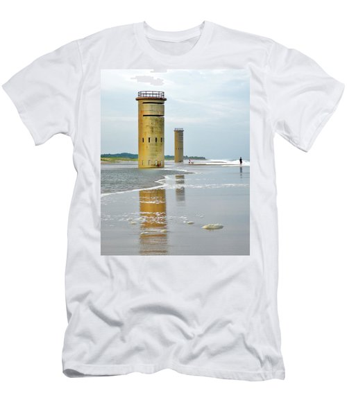 Twin Towers At Whiskey Beach Men's T-Shirt (Athletic Fit)