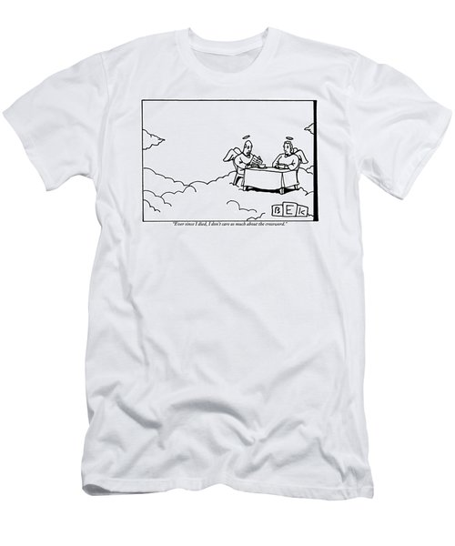 Two Angels Are Seen Sitting At A Table Men's T-Shirt (Athletic Fit)