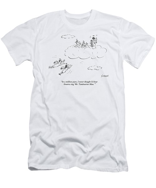 Two Angels Speak As They Look At Frank Sinatra Men's T-Shirt (Athletic Fit)