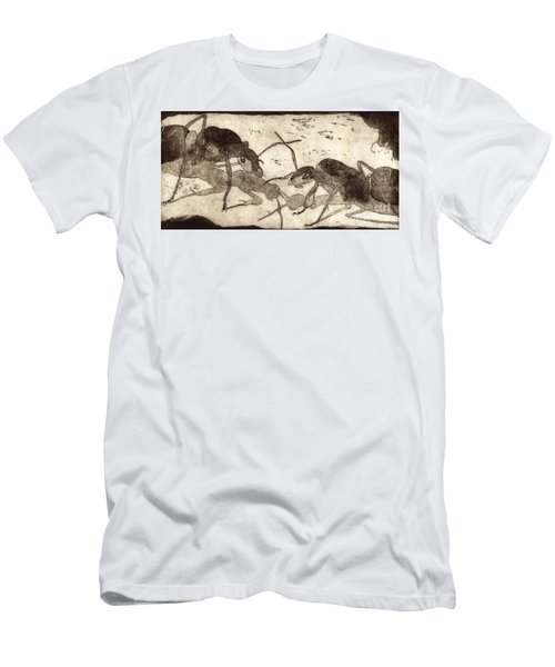 Two Ants In Communication - Etching Men's T-Shirt (Athletic Fit)