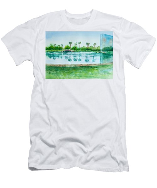Two Bridges At Rainbow Lagoon Men's T-Shirt (Athletic Fit)