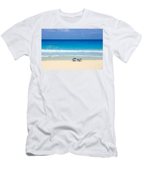 Two Chairs On Cancun Beach Men's T-Shirt (Athletic Fit)