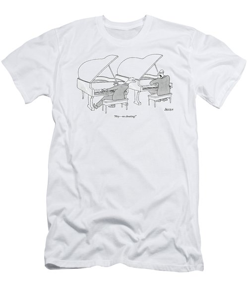 Two Concert Pianists Play Side-by-side Men's T-Shirt (Athletic Fit)