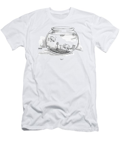 Two Fish Are In A A Fish Bowl. One Men's T-Shirt (Athletic Fit)