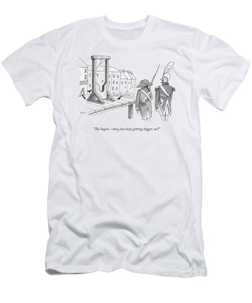 Two French Soldiers Look At A Guillotine Men's T-Shirt (Athletic Fit)