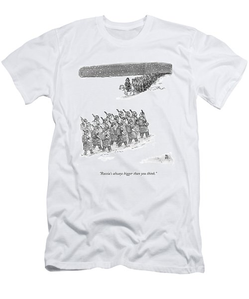 Two Groups Of Army Troops Walk In Opposite Men's T-Shirt (Athletic Fit)