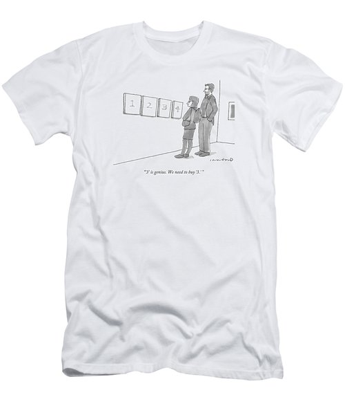 Two Hip-looking People In A Gallery Men's T-Shirt (Athletic Fit)