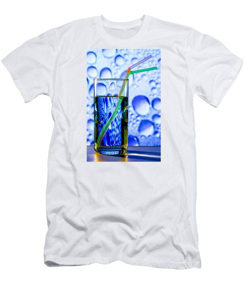 Men's T-Shirt (Slim Fit) featuring the photograph Two In Bubbles by Edgar Laureano