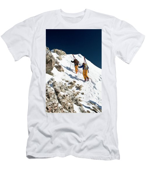Two Men Backcountry Skiing Hike Men's T-Shirt (Athletic Fit)