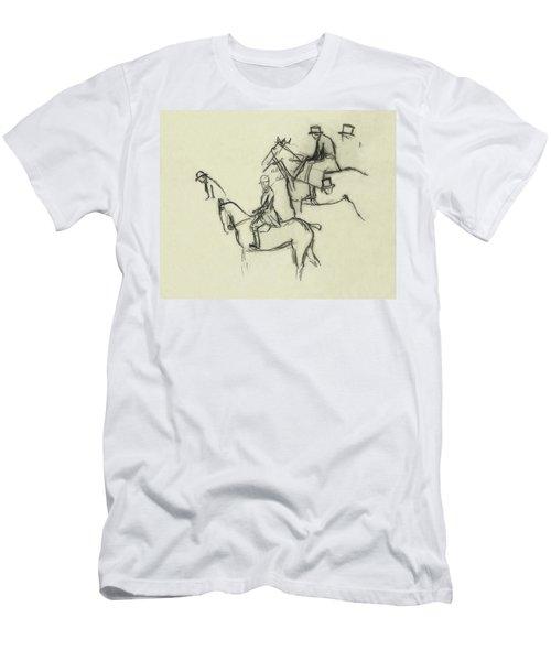 Two Men Horse Riding Men's T-Shirt (Athletic Fit)