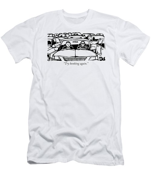 Two Men In A Car Are Stuck In Traffic Men's T-Shirt (Athletic Fit)
