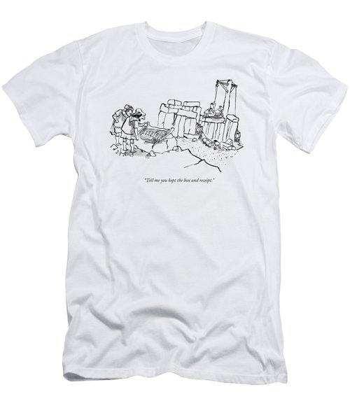Two Men In Greek/roman Garb Look Men's T-Shirt (Athletic Fit)