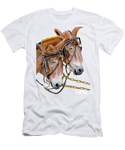 Two Mules - Enhanced Color - Farmer's Friend Men's T-Shirt (Athletic Fit)