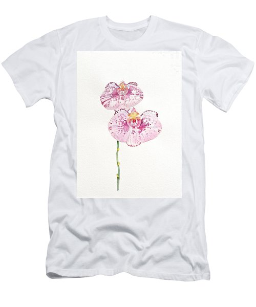 Men's T-Shirt (Slim Fit) featuring the painting Two Orchids by Michele Myers