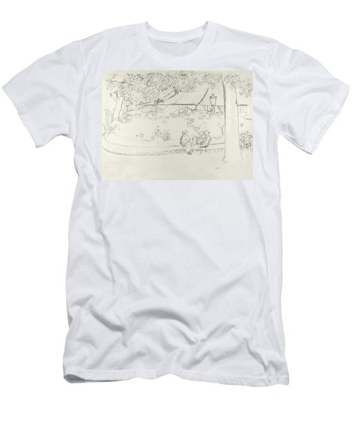 Two People At A Small Park Men's T-Shirt (Athletic Fit)