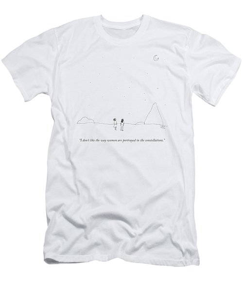 Two People Look At The Stars Men's T-Shirt (Athletic Fit)