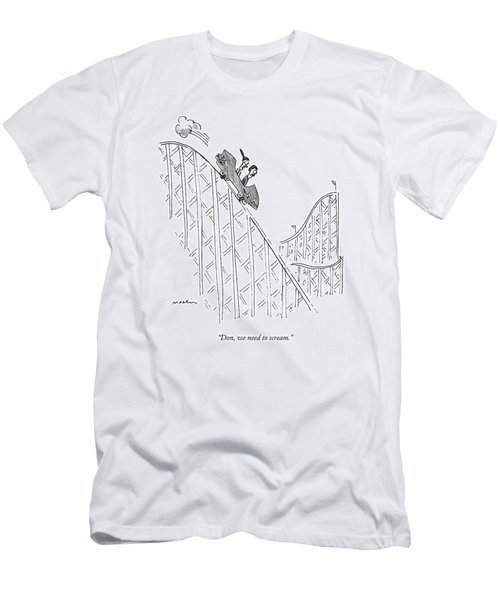 Two People Ride A Roller Coaster Men's T-Shirt (Athletic Fit)