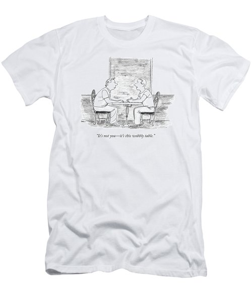 Two People Sit At A Table Men's T-Shirt (Athletic Fit)