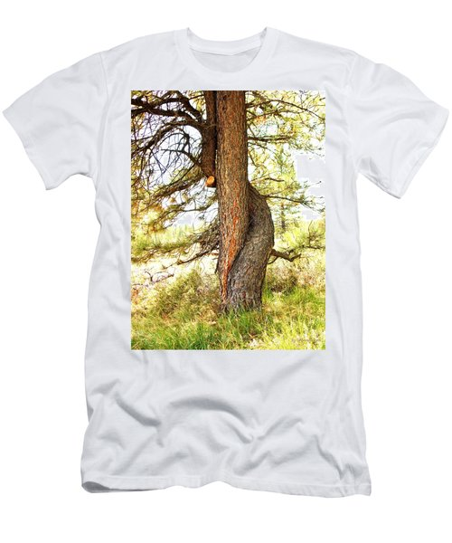 Two Pines Intertwined  Men's T-Shirt (Slim Fit) by Deborah Moen