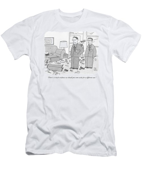 Two Police Officers Overlook A Messy Murder Scene Men's T-Shirt (Athletic Fit)